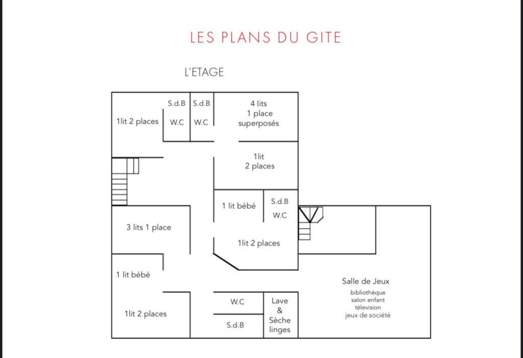 """Plan du gîte """"la Cabane"""" - l'étage"""